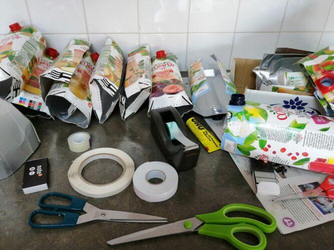 Foto 1 - Materiais usados na construção da máscara
