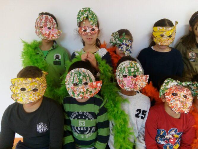 Carnaval Saudável<br/>As máscaras foram um sucesso na comunidade escolar.