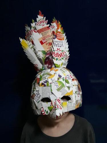 Visualização frontal da máscara<br/>Conclusão do trabalho