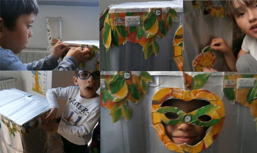 Colando os diferentes detalhes da máscara. Funciona!!