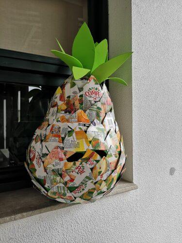 O cabeçudo em forma de ananás