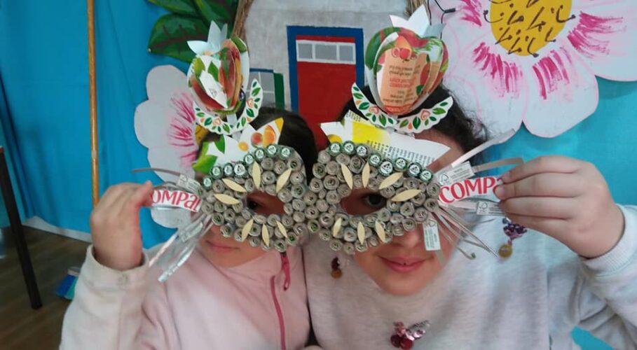 Trabalho final - Máscara construída pelos alunos.