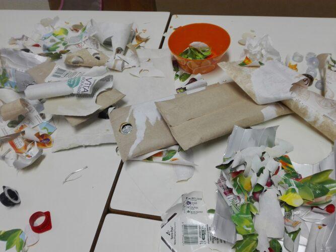 Recolha e preparação dos materiais