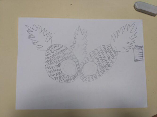 Estudo do desenho e forma.