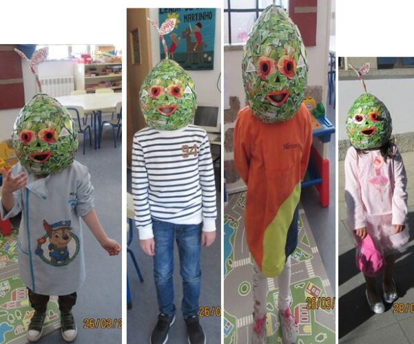 Desfile com a máscara