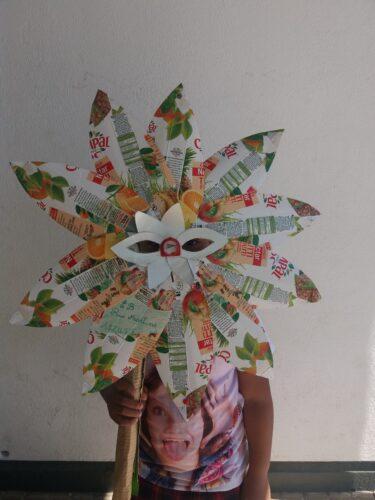 1ª Utilização/ Experiência<br/>Os alunos experimentaram a máscara.