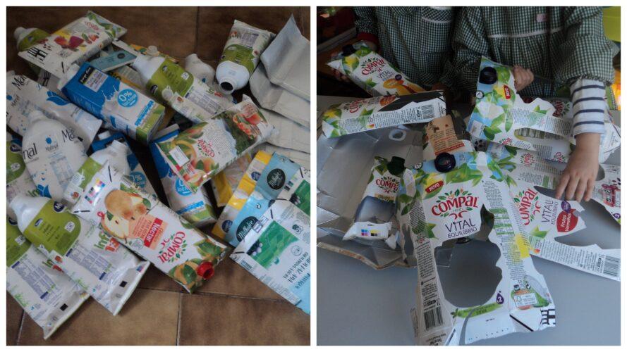 Primeiro fizemos a separação dos materiais solicitados (entre outros que temos recolhido para diversos trabalhos)