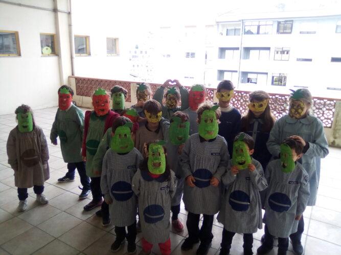As nossas máscaras de frutos