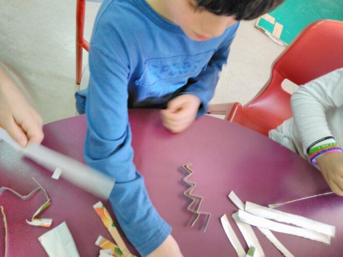 Recorte e dobragem das tiras