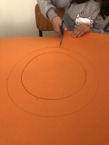 Marcação da máscara com a forma da laranja