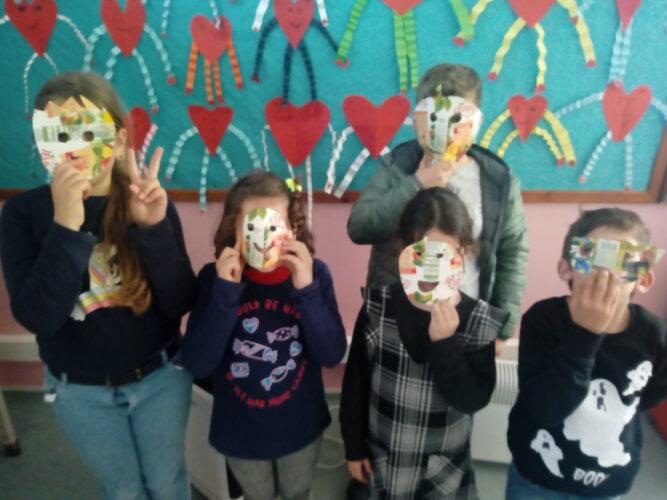 Usar as máscaras foi divertido!