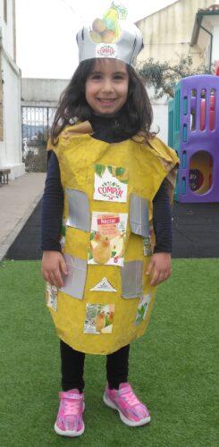 Exemplo de um fato de uma embalagem de néctar de pêra.