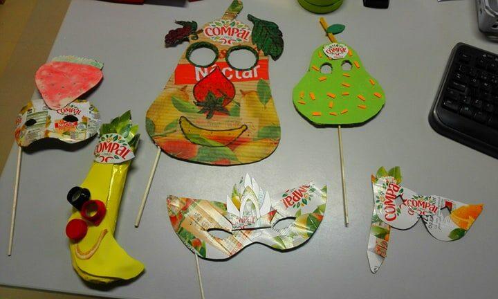 As máscaras selecionadas que foram a votação