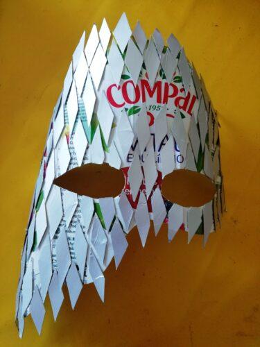 Losangos e base da máscara.