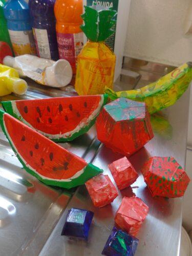 Alguns frutos depois de construídos.