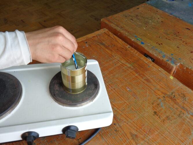 A preparação da cola
