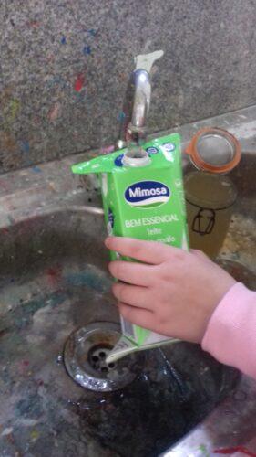 lavagem dos materiais