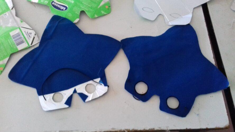 fase de elaboração e conclusão das máscaras