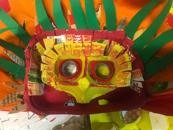 A execução da máscara