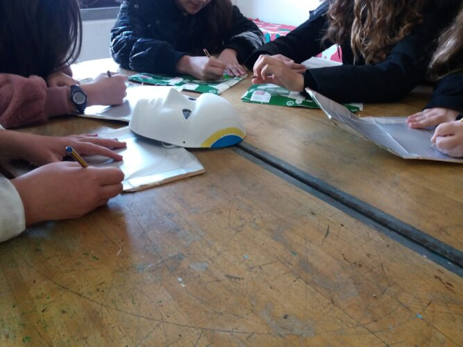 Processo de construção das máscaras.