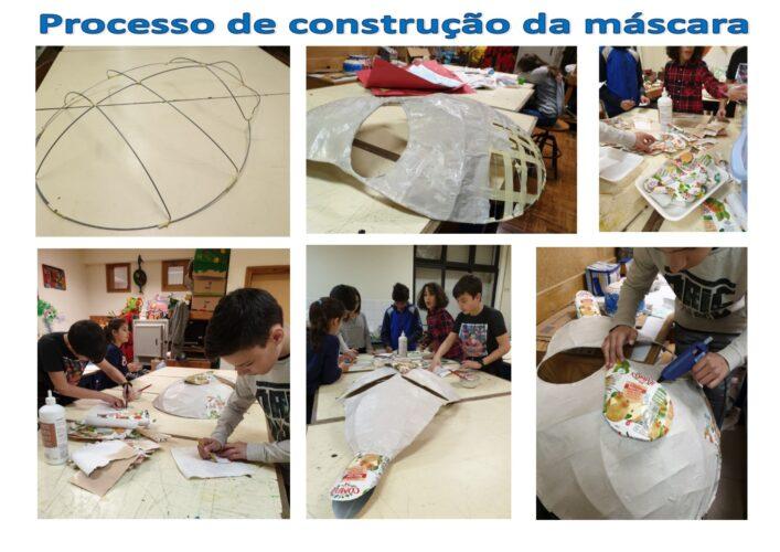Processo de construção da máscara - Montagem.
